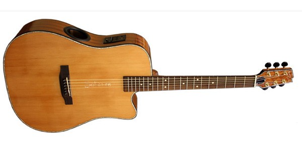 Guitare folk Boulder creek Solitare Dreadnought ECR3-N