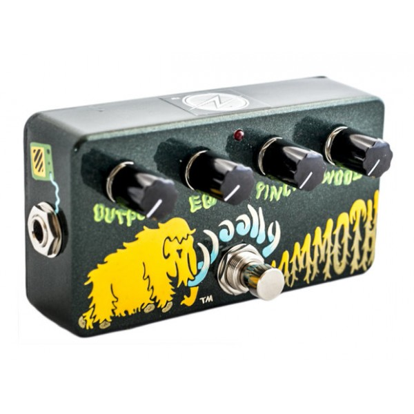 Hand-Painted Woolly Mammoth Fuzz Bass Effect