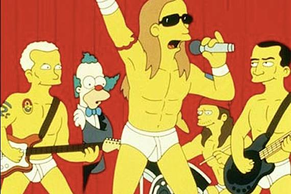 red hot chili peppers simpsons